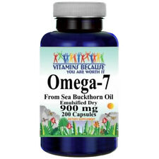 Omega-7 900mg Fatty Acids - 200 Caps from Natural Sea Buckthorn-Palmitoleic Acid