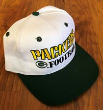 Vintage Logo Athletic Green Bay Packers White & Green Hat-NWOT