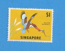 SINGAPORE - scott 67 wmk upright, VFMNH, tiny tone spot at top, $1 bird, 1963