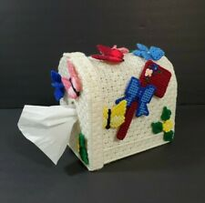 Plastic Canvas Cross Stitch Finish Tissue Napkin Box Cover Mailbox Shape Decor