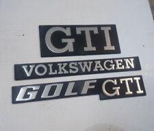 VW Golf 1 GTI Heckemblem Kühlergrillemblem Kühlergrill Volkswagen Emblem silber