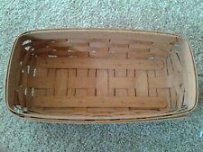 """1990 Longaberger Woven Bread Basket 12 x 7.5"""" x 4"""""""