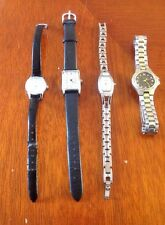4 Vintage Sekonda Watches For Repair All Working Sports Leather Steel Diamond