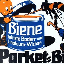 PARKETT BIENE Antikes Plakat Stuttgart um 1920 MAKELLOS Kobold Parkett L. KÜBLER