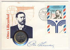 DDR-NUMISBRIEF con 5 Mark 1973-Otto Lilienthal guardare - (11017/80n)