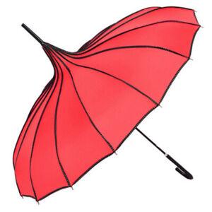 TOPTIE Umbrella Pagoda Parasol, Bridal Wedding Umbrellas, Sunproof Waterproof