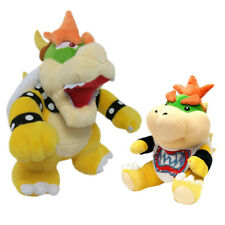 2pcs Super Mario Bros Standing Bowser Koopa & Bowser Jr. Plush Toy Stuffed Doll