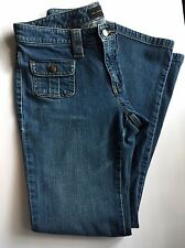 The Limited Women's jeans, snap button pockets, size 6 medium wash Boot cut A-5