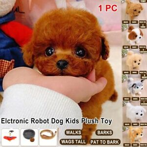 Teddy Dog Realistic Interactive Puppy Toys Plush Stuffed Kids Xmas Gifts Battery