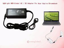 Global AC Adapter For Acer C7 Chrome book C710-2847 Google Power Supply C7102847