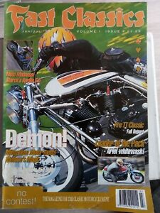 """Fast Classics"" magazine june 1995 - Harley metisse / Benelli Sei / Dunstall H1R"