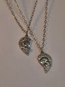Sterling Silver Forever Friends Necklace And Pendants. Friendship Necklace.