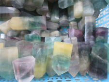 NATURAL Fluorite QUARTZ CRYSTAL WAND POINT HEALING 1lb 6-9pcs