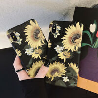 New Shockproof Sunflower Cute Phone Case Cover For Iphone 8 Plus 7 6S XS Max XR