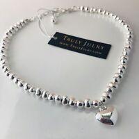 UK Ladies Womens Luxury Designer Necklace Silver Heart Pendant Jewellery Gift