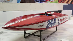 "48"" CRACKERBOX RC MODEL BOAT KIT FIBERGLASS Hull, Deck & Cockpit PLUS EXTRAS!!!"
