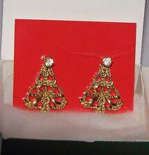 1990 Avon Convertable Christmas Tree Pierced Earrings NIB