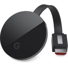 Google Chromecast Ultra (Black) - HDR, 4K Ultra HD, Dual-Band 802.11ac