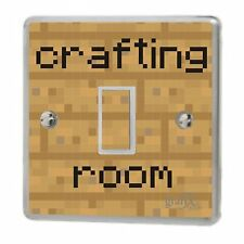 Computer Crafting Room Light Switch Sticker Vinyl / Skin cover , sw147