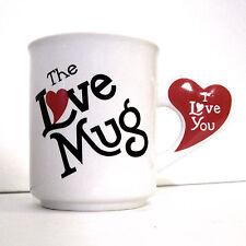 The Love Mug I Love You Red Heart Handle Vintage Coffee Cup LVM-B 6 oz