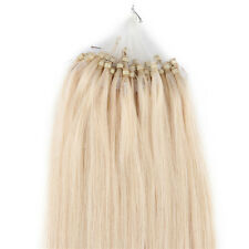 """24"""" Loop Micro Ring Beads Tipped Remy Real Human Hair Extensions Blonde 50s 25g"""