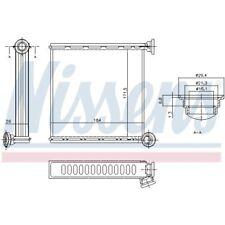 1 Radiador de calefacción NISSENS 73980 adecuado para AUDI SEAT SKODA VW CUPRA