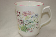 Mug Cup Tasse à café Jason Fine Bone China Floral Decoration Pink Rim