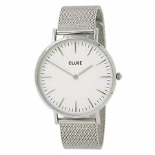 Cluse Ladies La Boheme Stainless Steel Watch, Mesh Strap, White Dial, CL18105