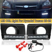 Pair Bumper LED DRL Daytime Running Light Fog Lamp For Hyundai Tucson