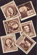 (10074) U.S./Us: nice singles of 10 cent Famous Americans, Lh & Nh