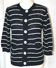 Precis Medium UK12-14 EU40-42 US8-12 new navy and white striped cotton cardigan