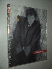 ALAIN SOUCHON PROGRAMME DE CONCERT 1995 + 3 TICKETS DE CONCERT LIEGE 7/4/95