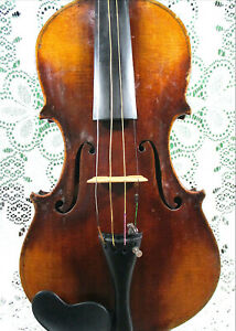 Old French Jacques Leclera Labeled Violin 4/4 For Restoration in Case No Reserve