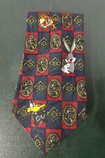 Vtg Looney Tunes Bugs Bunny Daffy, Taz Tweety & Sylvester 100% Polyester Necktie