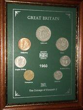 Encadré 1960 pour pièces de monnaie année Set (Rétro 58th Cadeau Anniversaire De Mariage Cadeau)