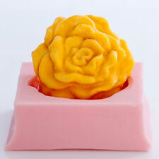 Cabbage Rose Soap Wax Mold Soap Mold Fexible easy to use mold (531)