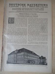 1924 Essen Friedhofstraße Evangelisches Lehrerseminar