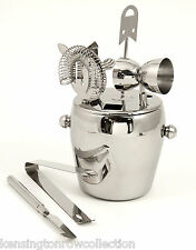 BAR SET - 7 PIECE STAINLESS STEEL ICE BUCKET & BAR TOOLS - BAR ACCESSORIES