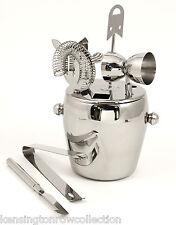 Bar Set - 7 Piece Stainless Steel Ice Bucket & Bar Tools - Bar Accessories