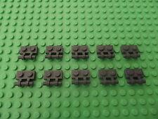 10 x gris foncé lego bleuâtre plaque modifié 1 x 2 avec poignée sur côté partie 2540