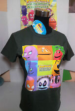 "PAC-MAN T-SHIRT TG.""S"" MAGLIETTA GRIGIO BANDAI AND GHOSTLY ADVENTURES ORIGINALE"