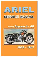 ARIEL Workshop Manual 4G 4F 4H Square Four 1939 to 1946 1947 Service & Repair