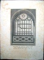 1850 INCISIONE SANTA CHIARA D'ASSISI ARTISTA SANTAMARIA