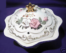 Antique Style Rose Bowl - white floral