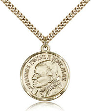 "Pope John Paul Ii Medal For Men - Gold Filled Necklace On 24"" Chain - 30 Day ..."