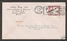 Jamaica Sc 123 on 1949 Air Mail cover to Chicago Vf