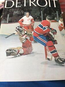 Detroit Red Wings Program Album Hockey 1971 GREAT CONDITION Gordie Howe Cover
