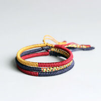 New model Lucky Handmade Buddhist Knots Rope Bracelet - Tibetan Buddhist Handmad