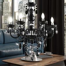 LED Luxus Hänge Lüster Lampe Kristall Kron Leuchte Ess Zimmer Decken Leuchte