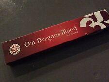 Om Dragons Blood Burning Premium Incense 1x15g Box Natural Fair Trade Sustainabl